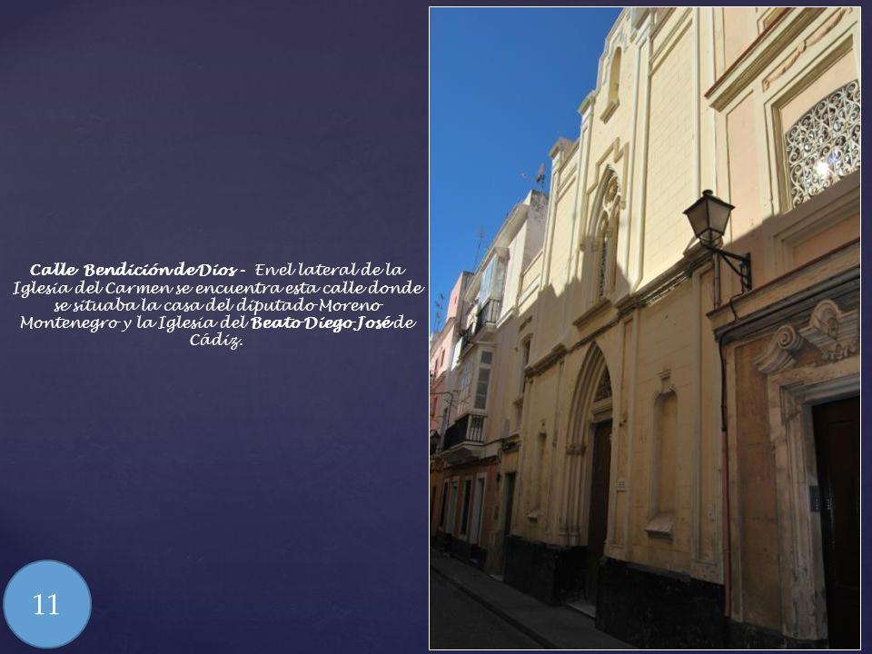 Iglesia del Carmen – Cuenta el diputado Don Antonio Alcalá Galiano en sus memorias que la ceremonia en la Iglesia del Carmen estuvo marcada por un tem