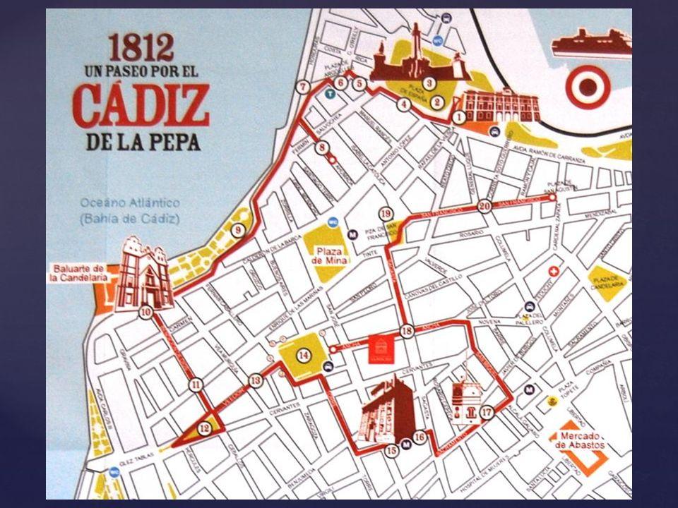 Casa de las Cuatro Torres – También llamada Casa Fragela, construida en 1745, se alquilaba a los comerciantes y Diputados que necesitaban vivir algún tiempo en Cádiz.