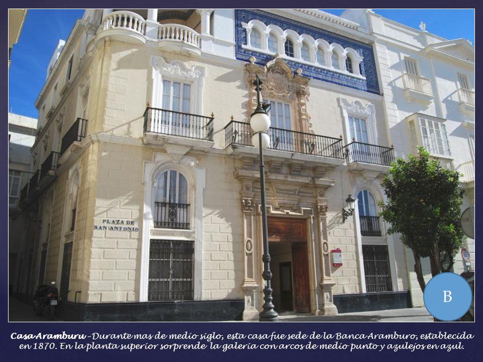 Se dice del Sr. Isturiz que perteneció a la masonería. En el Cádiz de las Cortes, la logia gaditana estaba muy ligada al comercio que se encargaba de