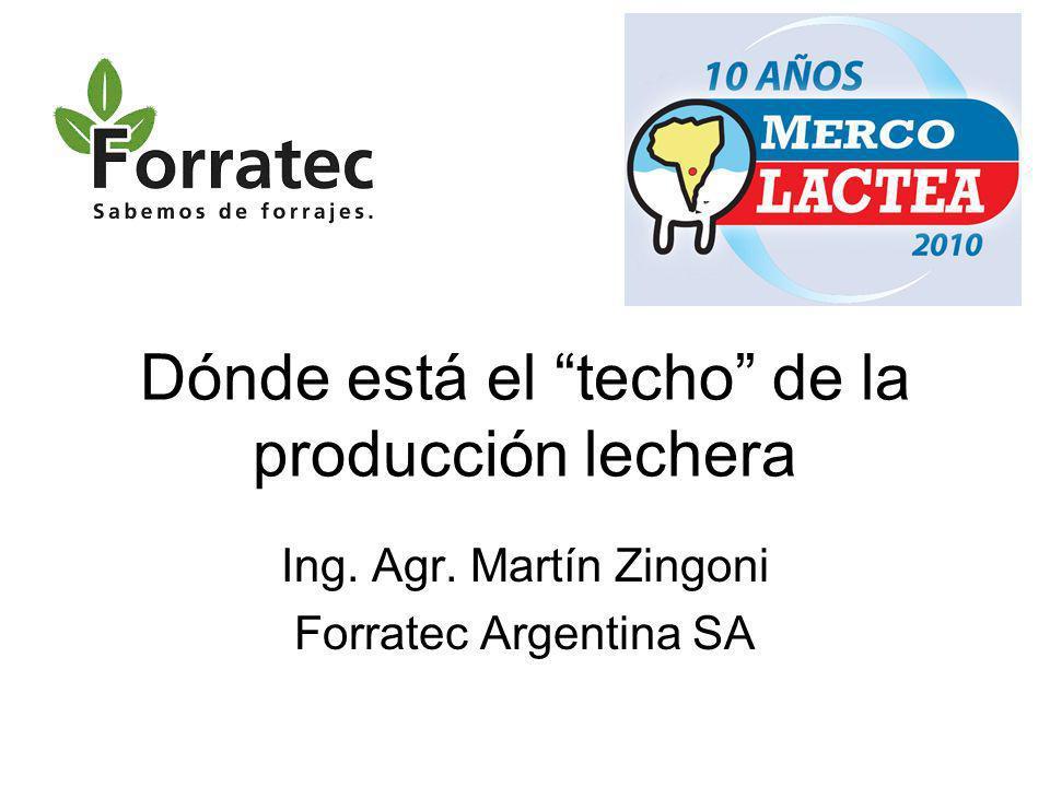 Dónde está el techo de la producción lechera Ing. Agr. Martín Zingoni Forratec Argentina SA
