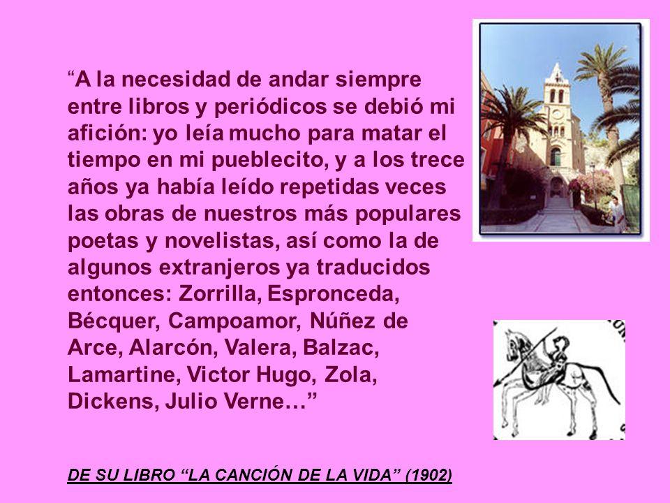 VICENTE MEDINA A su querido maestro de primeras letras, Don Miguel Medina, le dedicó uno de sus más tiernos poemas, Los pajaricos sueltos