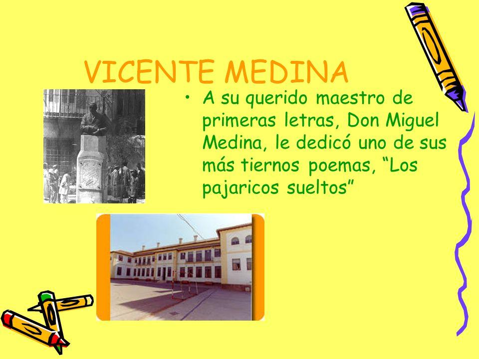 VICENTE MEDINA –A los 18 años realiza el servicio militar en Cádiz y después se establece en Cartagena como cabo de escribiente.