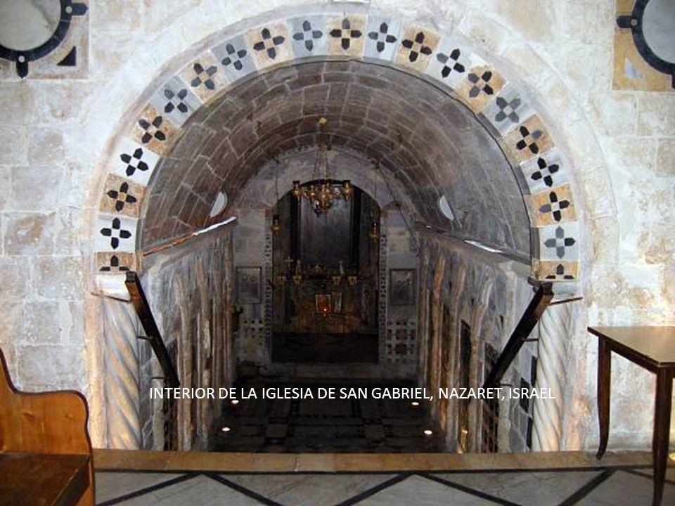Sábado, 22 de Febrero de 201445 AHORA NOS ACERCAMOS A LA IGLESIA DE SAN GABRIEL, NAZARET, ISRAEL