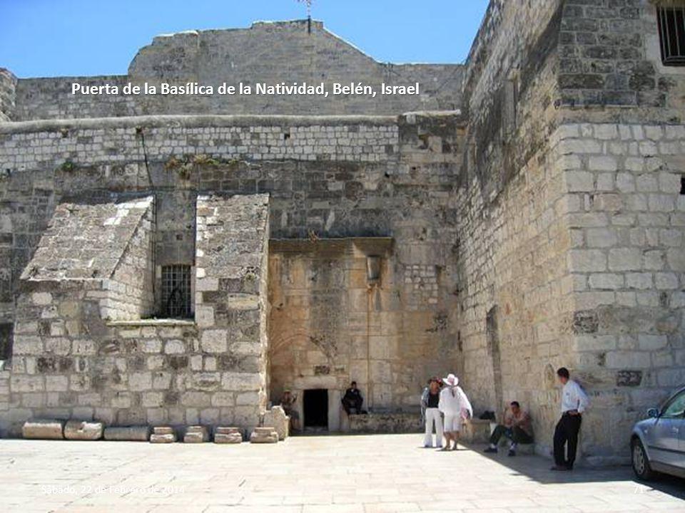 Sábado, 22 de Febrero de 201470 Basílica de la Natividad, construida en el lugar donde estuvo el pesebre donde nació Jesús.