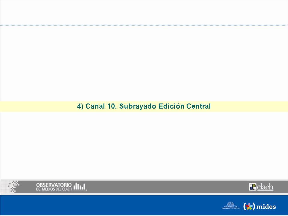 4) Canal 10. Subrayado Edición Central