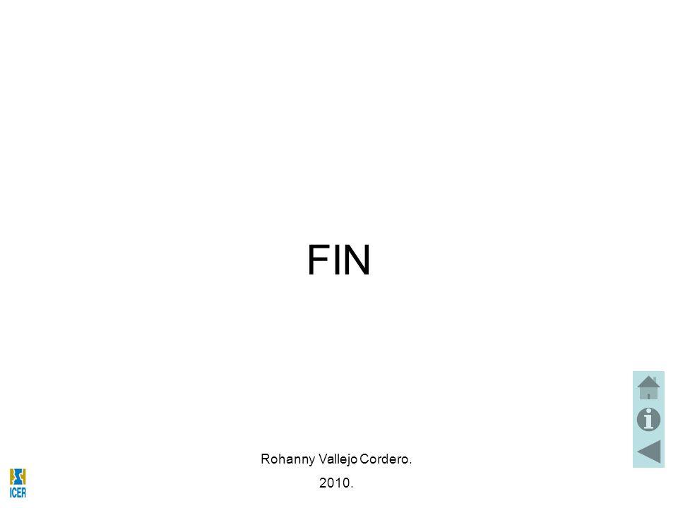 FIN Rohanny Vallejo Cordero. 2010.