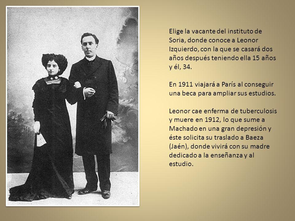 En 1899, Antonio Machado viaja a París, donde vive su hermano el poeta Manuel, con quien en lo sucesivo emprenderá una carrera conjunta de autores dra