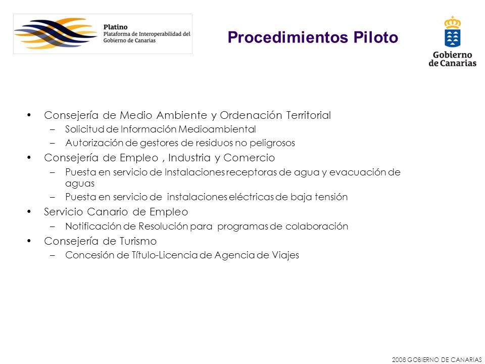 2008 GOBIERNO DE CANARIAS Consejería de Medio Ambiente y Ordenación Territorial –Solicitud de Información Medioambiental –Autorización de gestores de
