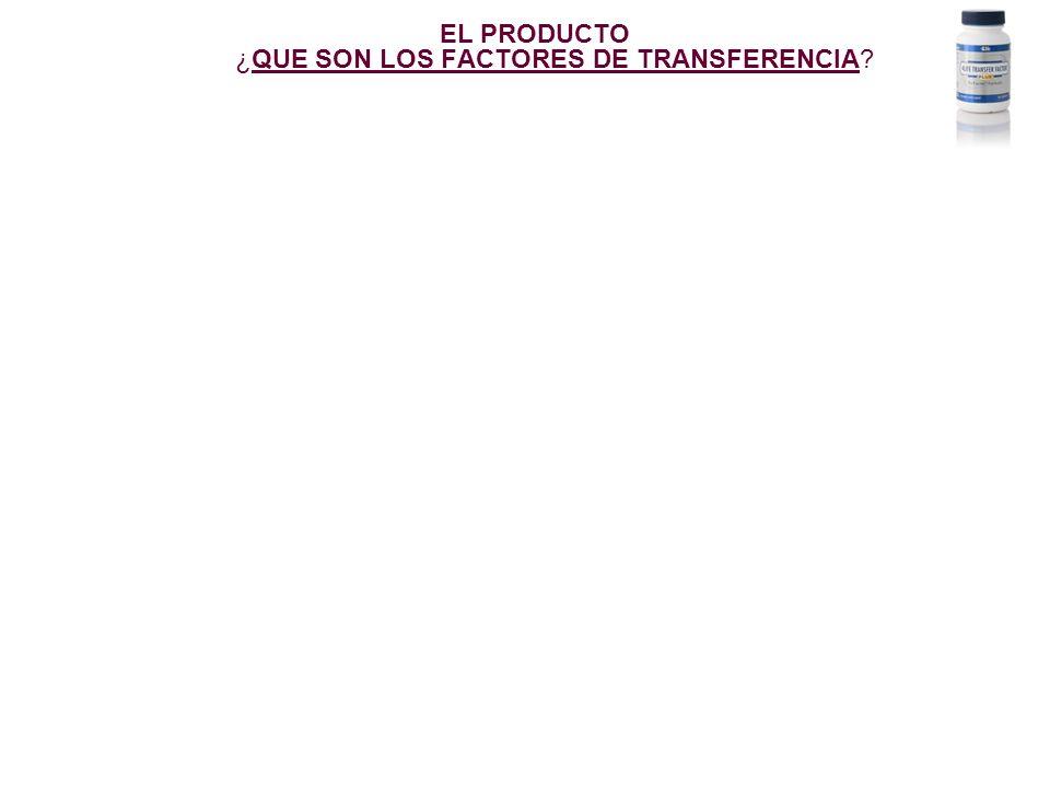 EL PRODUCTO ¿QUE SON LOS FACTORES DE TRANSFERENCIA?