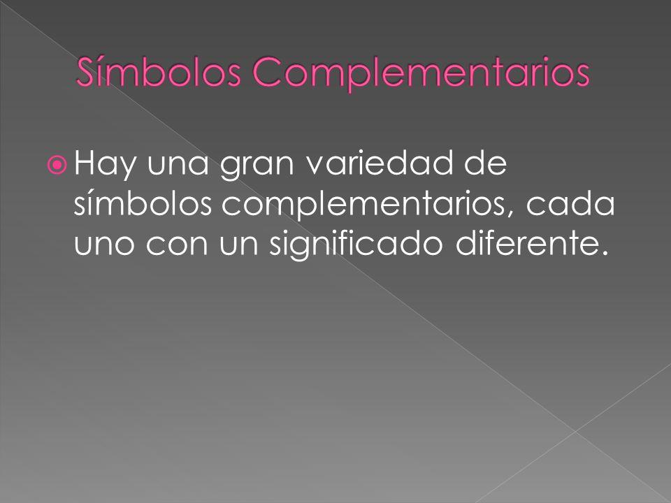 Hay una gran variedad de símbolos complementarios, cada uno con un significado diferente.