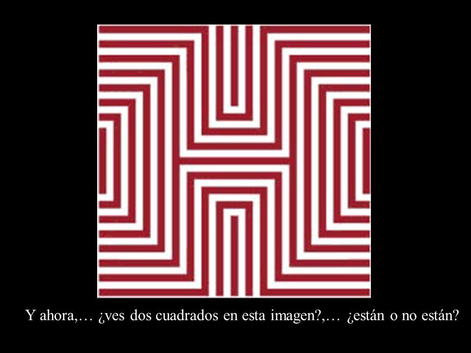 Y ahora,… ¿ves dos cuadrados en esta imagen?,… ¿están o no están?