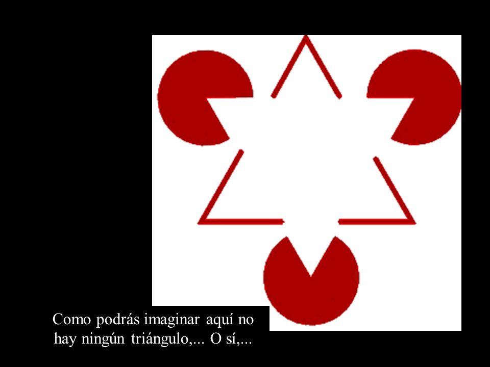 Como podrás imaginar aquí no hay ningún triángulo,... O sí,...