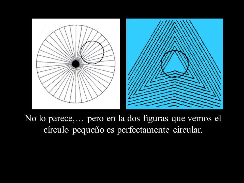 No lo parece,… pero en la dos figuras que vemos el círculo pequeño es perfectamente circular.