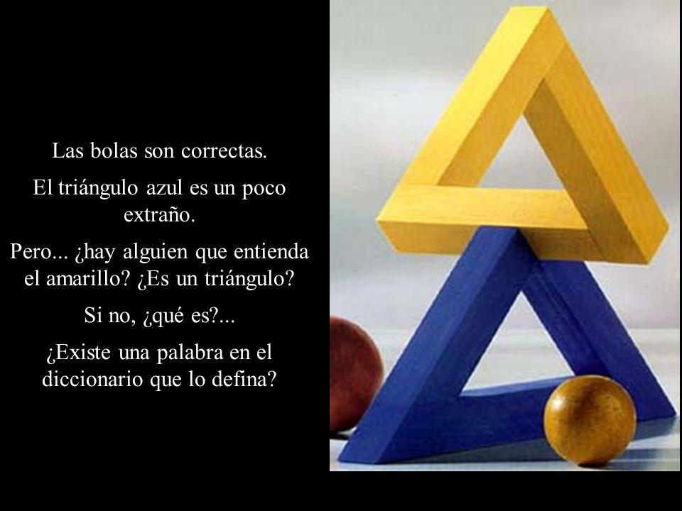 Las bolas son correctas. El triángulo azul es un poco extraño. Pero... ¿hay alguien que entienda el amarillo? ¿Es un triángulo? Si no, ¿qué es?... ¿Ex