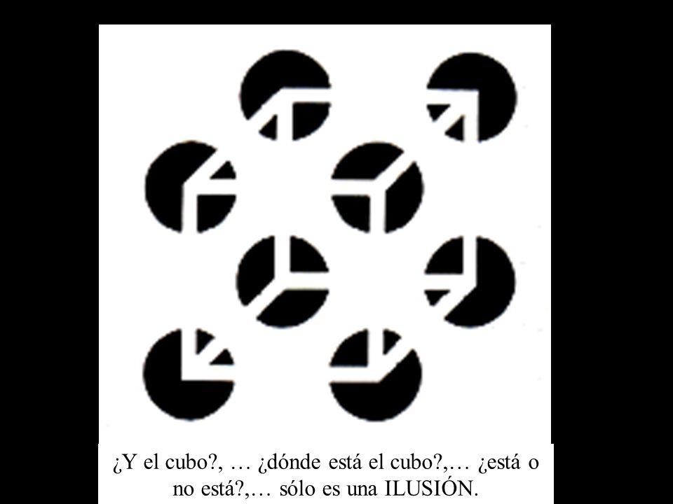 ¿Y el cubo?, … ¿dónde está el cubo?,… ¿está o no está?,… sólo es una ILUSIÓN.