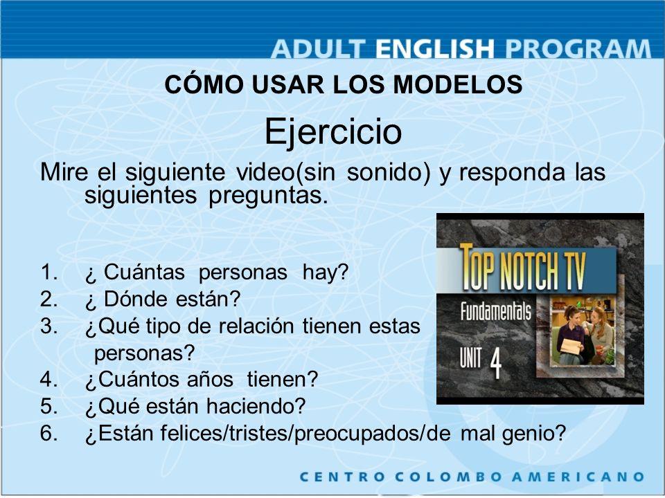 Ejercicio Mire el siguiente video(sin sonido) y responda las siguientes preguntas.