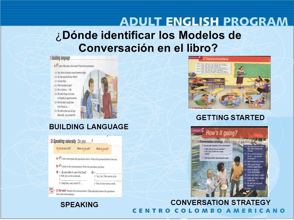 ¿Dónde identificar los Modelos de Conversación en el libro.