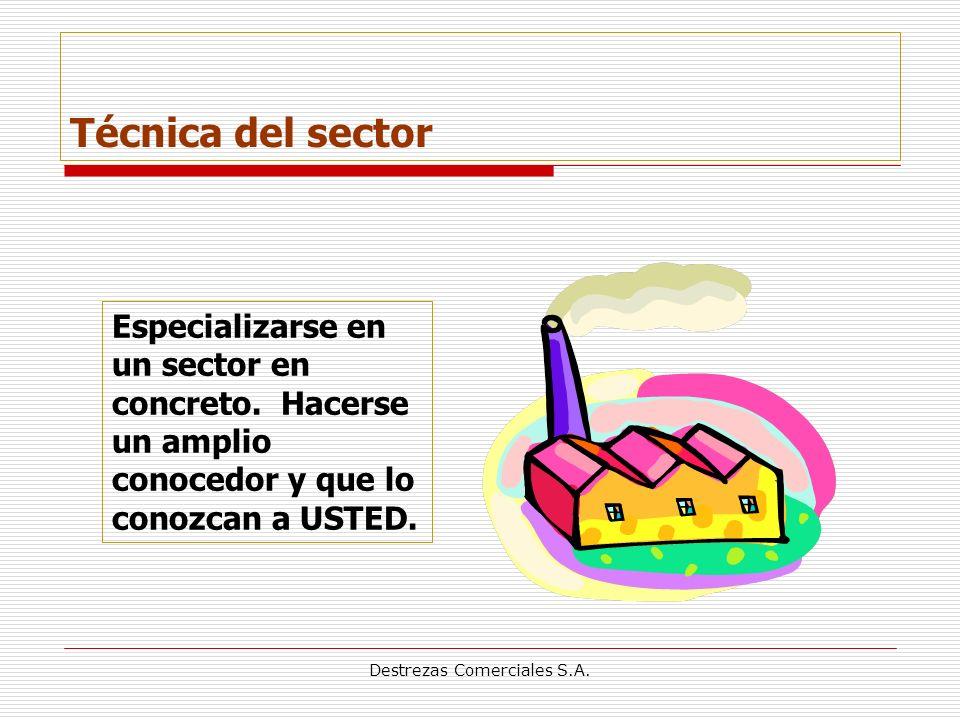 Destrezas Comerciales S.A.Técnica del sector Especializarse en un sector en concreto.