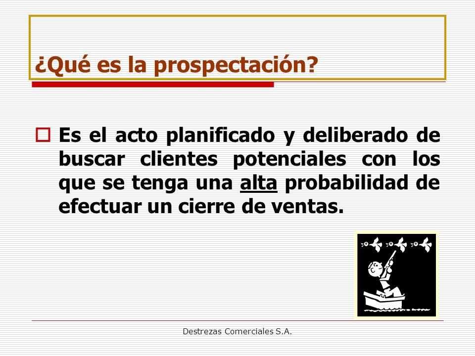 Destrezas Comerciales S.A.¿Qué es la prospectación.