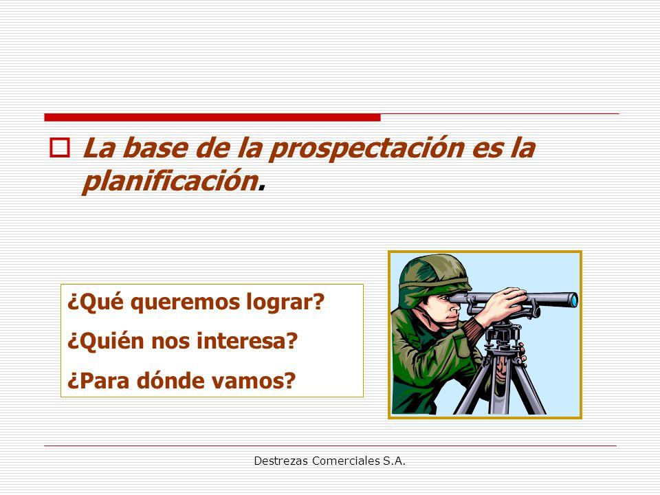 Destrezas Comerciales S.A.La base de la prospectación es la planificación.