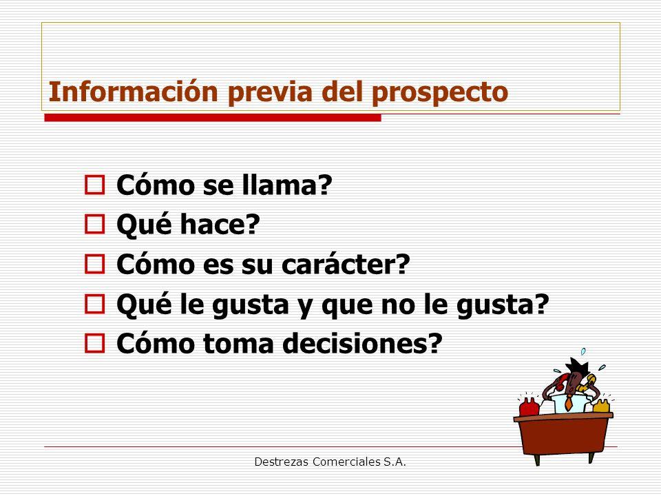 Destrezas Comerciales S.A.Información previa del prospecto Cómo se llama.