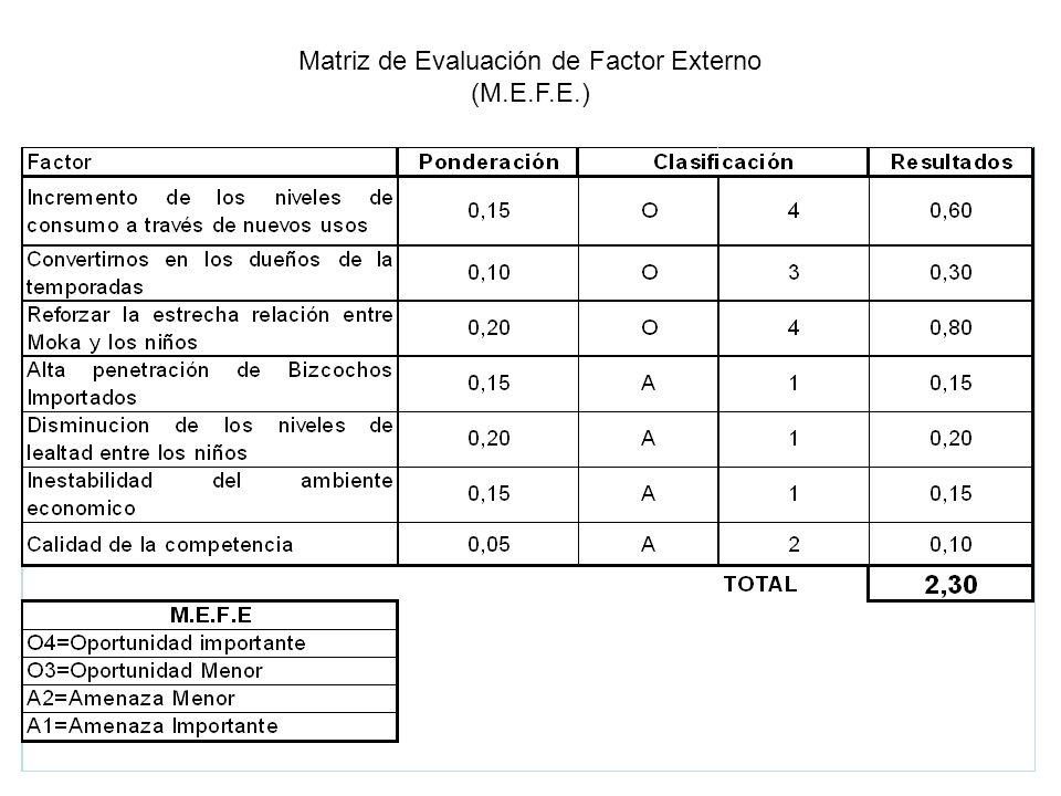 Matriz de Evaluación de Factor Externo (M.E.F.E.)