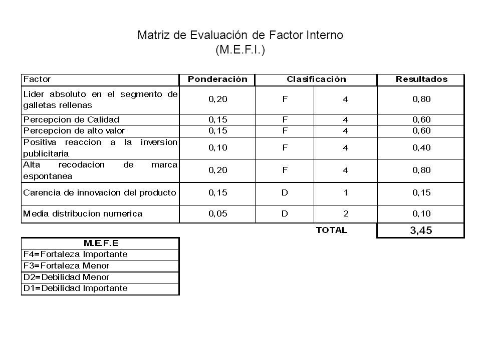 Matriz de Evaluación de Factor Interno (M.E.F.I.)
