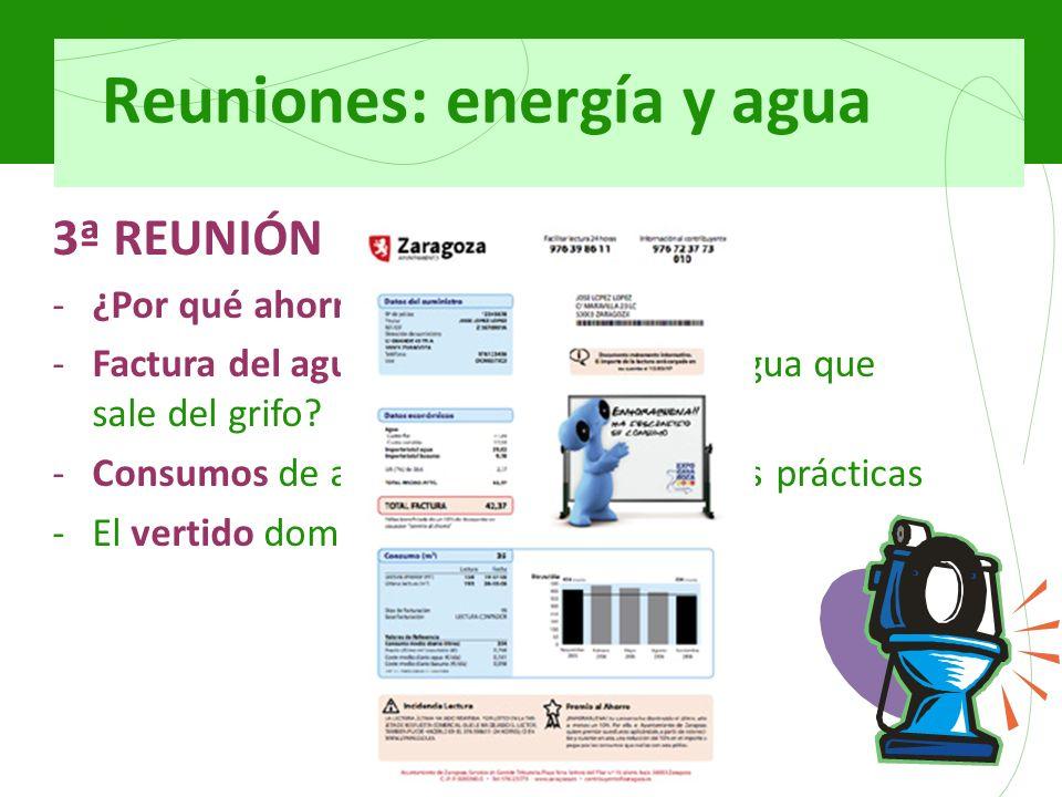 Reuniones: energía y agua 3ª REUNIÓN -¿Por qué ahorrar agua.