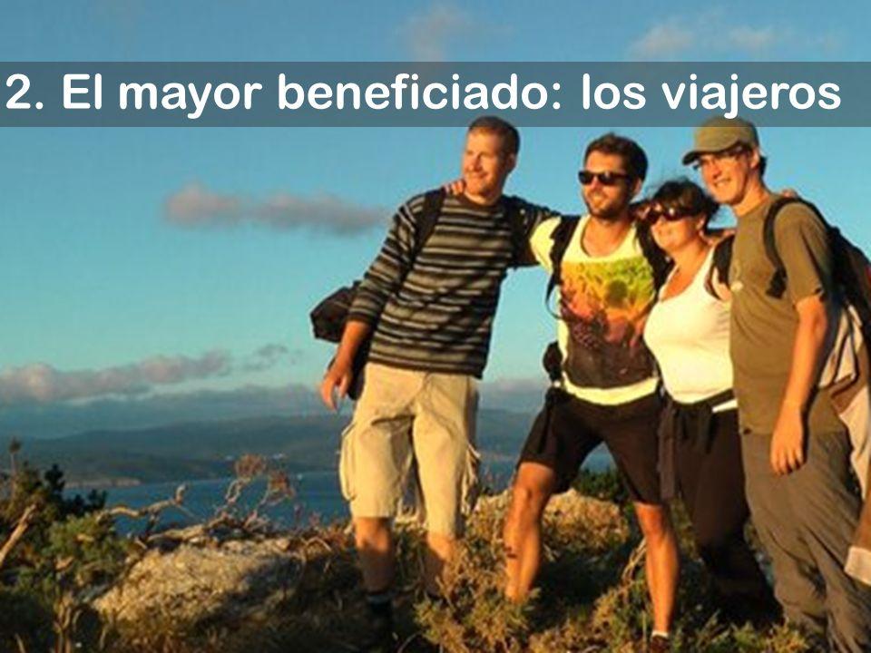 2. El mayor beneficiado: los viajeros