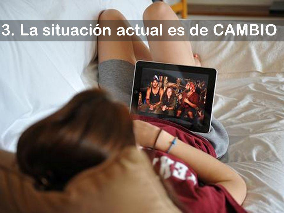 3. La situación actual es de CAMBIO