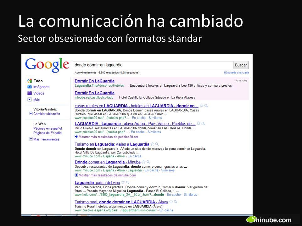 La comunicación ha cambiado Sector obsesionado con formatos standar