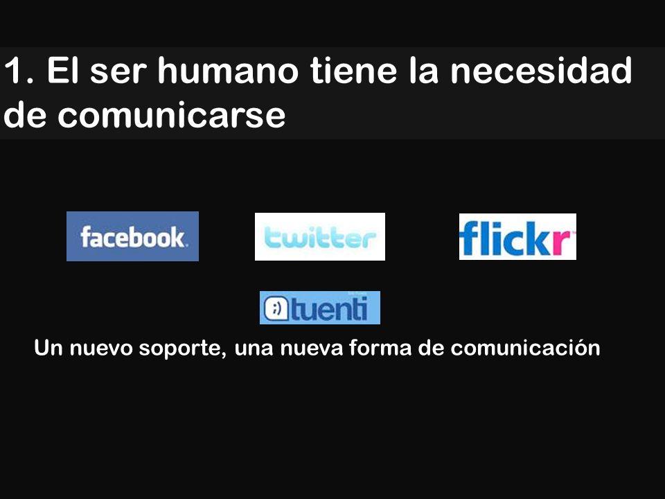1. El ser humano tiene la necesidad de comunicarse Un nuevo soporte, una nueva forma de comunicación