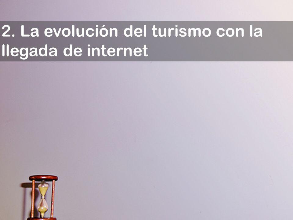 2. La evolución del turismo con la llegada de internet