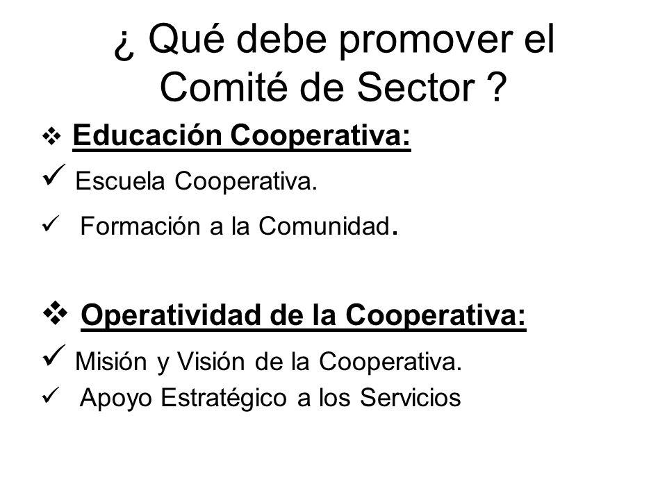 Educación Cooperativa: Escuela Cooperativa. Formación a la Comunidad. Operatividad de la Cooperativa: Misión y Visión de la Cooperativa. Apoyo Estraté