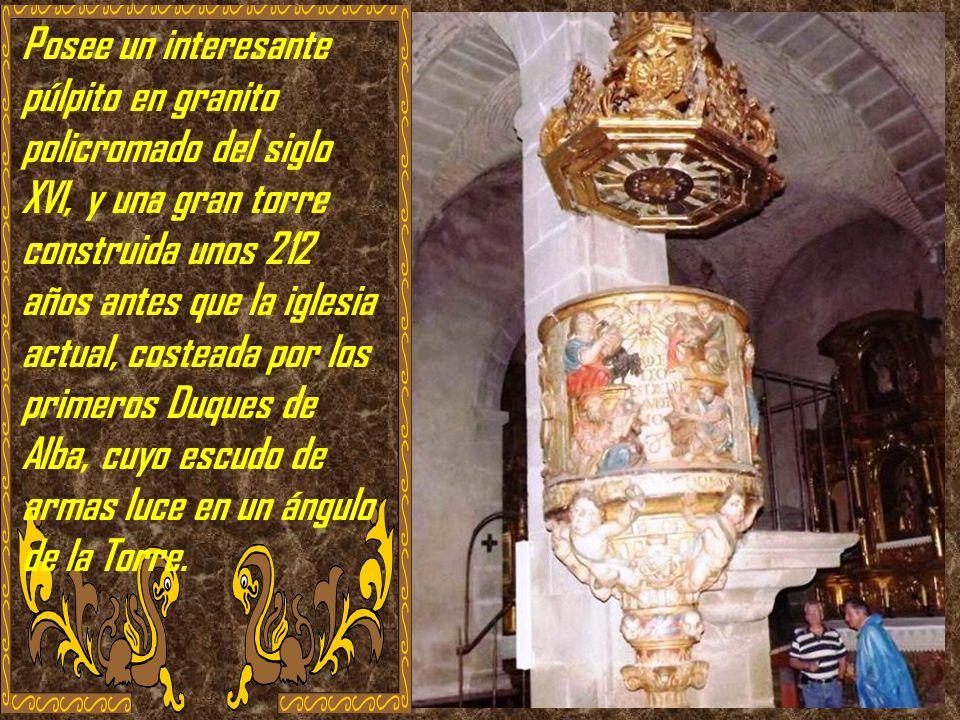 Tiene solo una iglesia. La Iglesia de Nuestra Señora de la Asunción, del siglo XVIII, que como curiosidad se terminó el mismo año que la Catedral Nuev