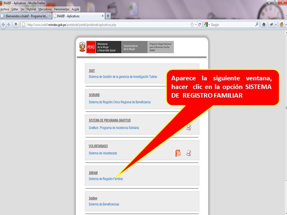 En este pantallazo aparece la situación Educativa del usuario esto se llena una vez al año, luego hacemos un clic en el botón grabar y regresamos al pantallazo anterior