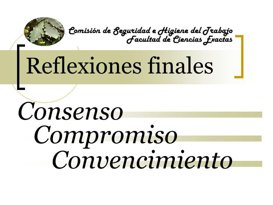 Reflexiones finales Convencimiento Consenso Compromiso