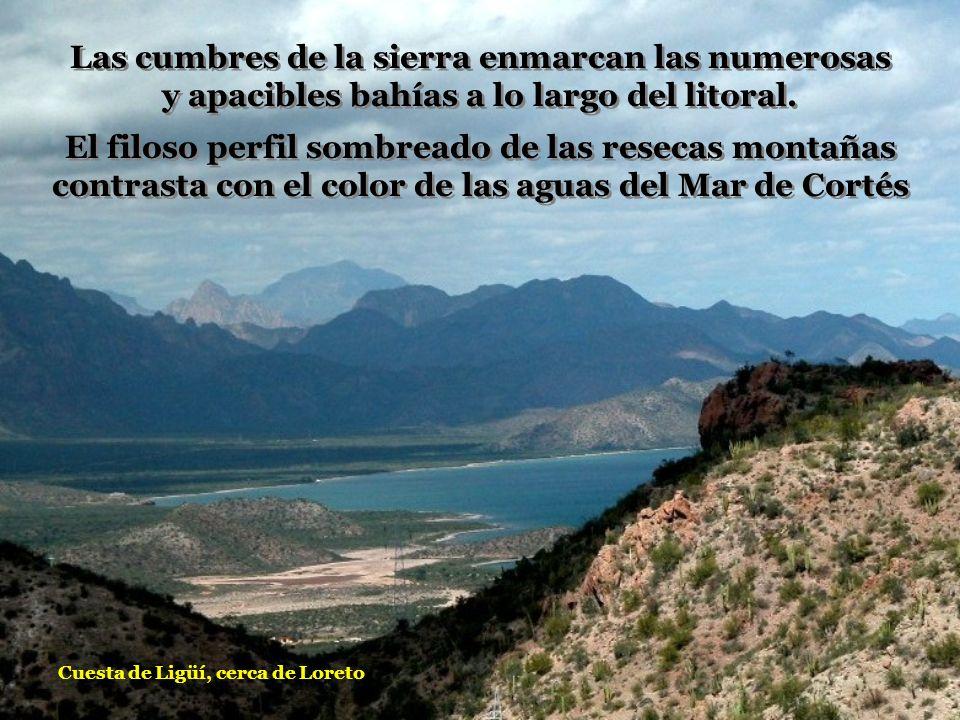 Las cumbres de la sierra enmarcan las numerosas y apacibles bahías a lo largo del litoral.