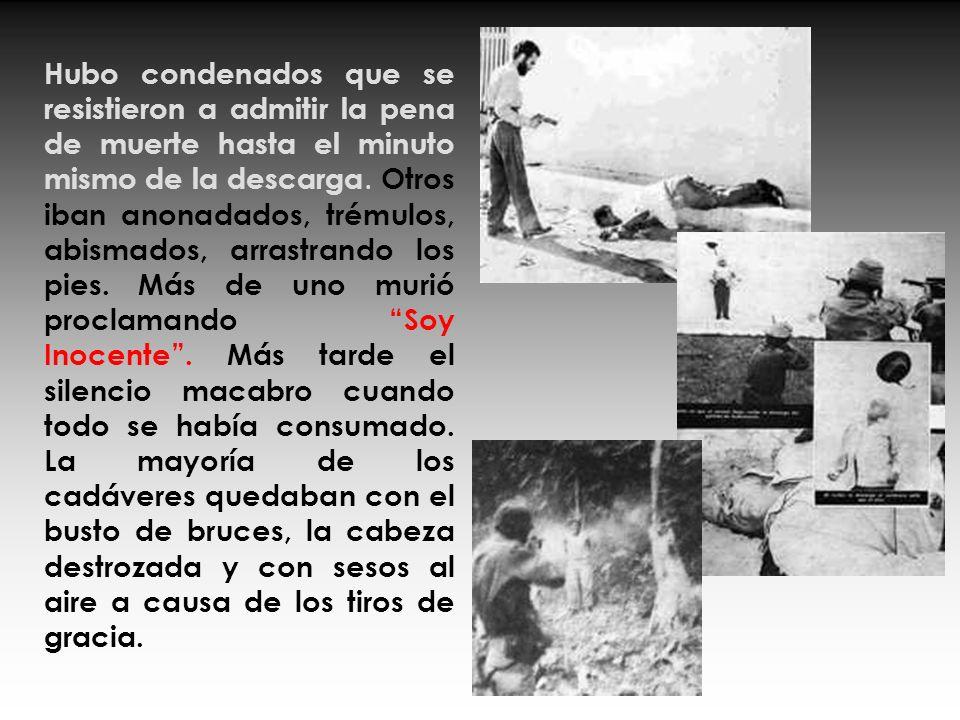 San Carlos de La Cabaña era una fortaleza de piedra convertida en cuartel militar donde se llevaban a cabo las ejecuciones Se fusilaba de lunes a vier