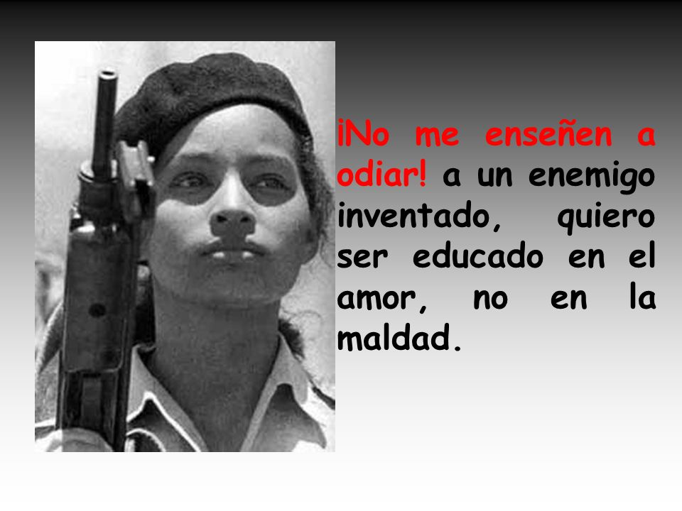 No me pongan a marchar como si fuera un soldado, quiero me dejen jugar, yo no quiero ser miliciano.