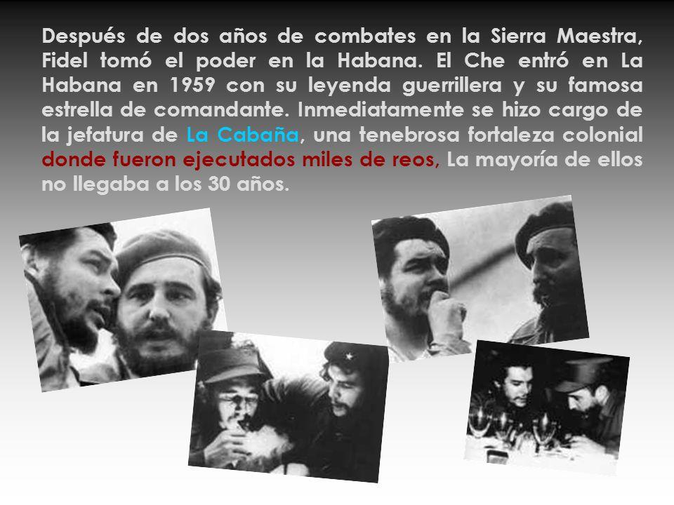 Ernesto Guevara Lynch de la Serna nació en Argentina, a mediados del año 1928, en una familia de izquierdistas ricos. Al culminar sus estudios de medi