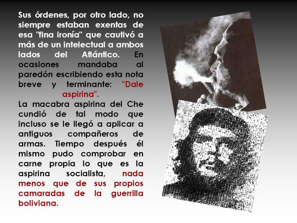 En La Cabaña había opositores políticos y gente inocente, pero el Che no dudaba en ejecutar personalmente a traidores o sospechosos de serlo. En las s