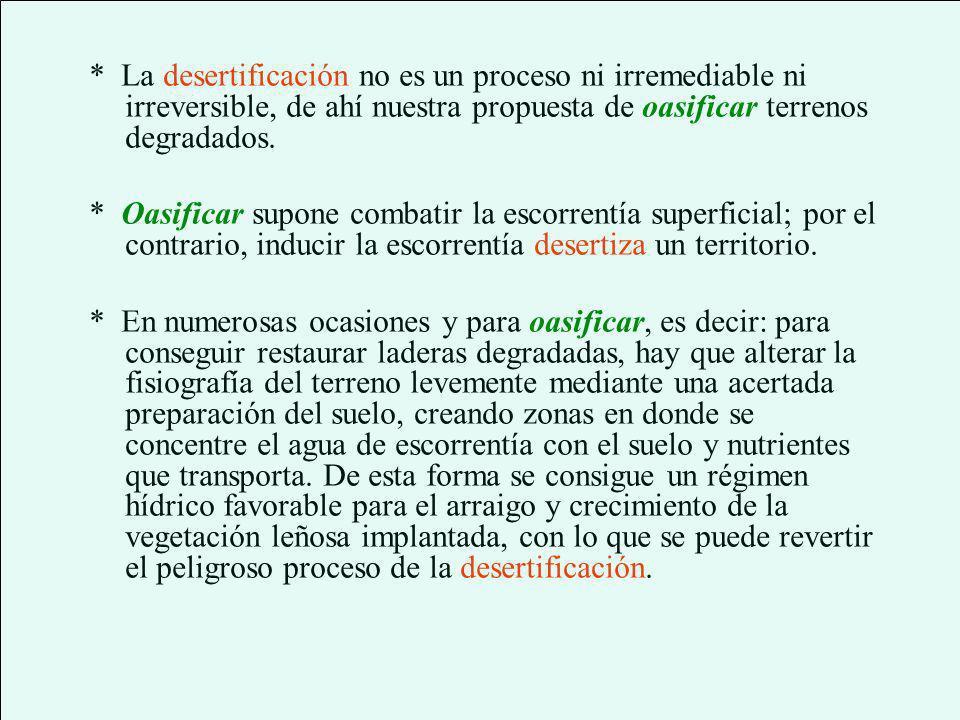 Oasificación contra desertificación