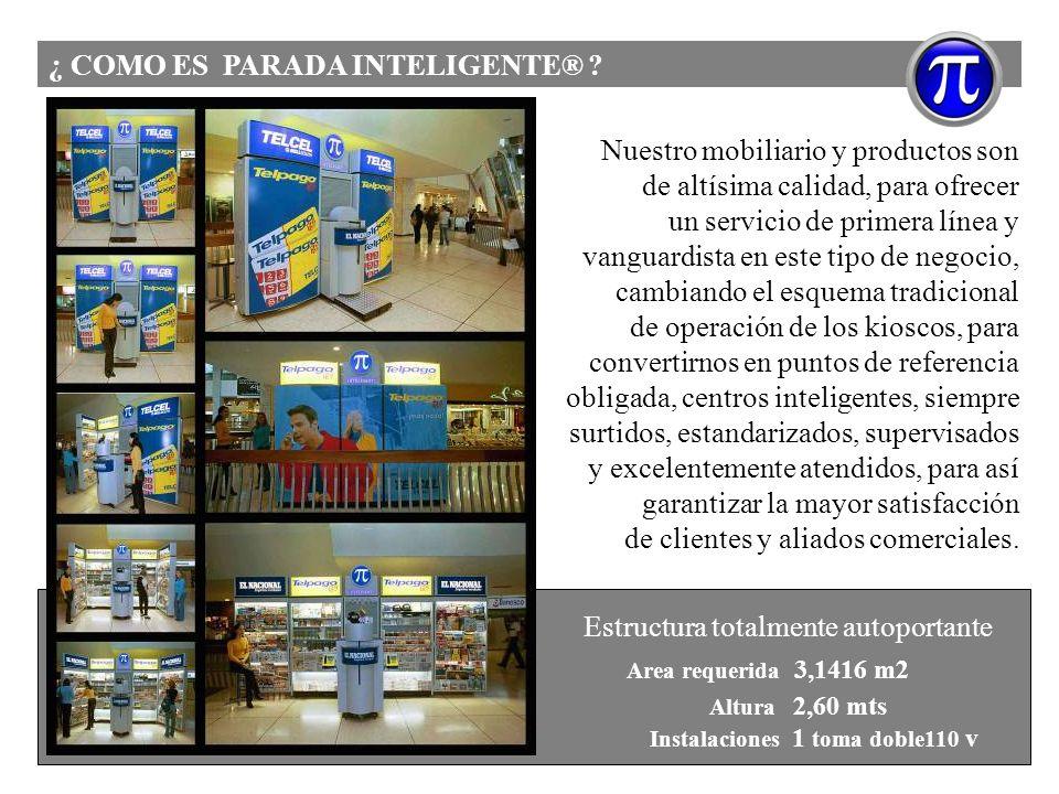 ¿ COMO ES PARADA INTELIGENTE® ? Nuestro mobiliario y productos son de altísima calidad, para ofrecer un servicio de primera línea y vanguardista en es