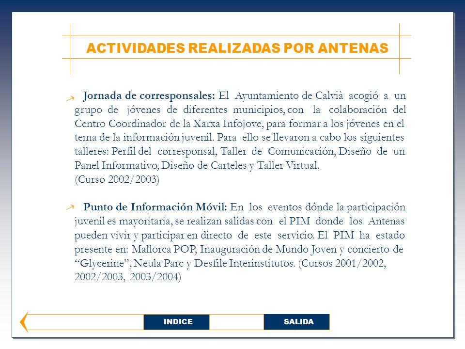 Jornada de corresponsales: El Ayuntamiento de Calvià acogió a un grupo de jóvenes de diferentes municipios, con la colaboración del Centro Coordinador de la Xarxa Infojove, para formar a los jóvenes en el tema de la información juvenil.