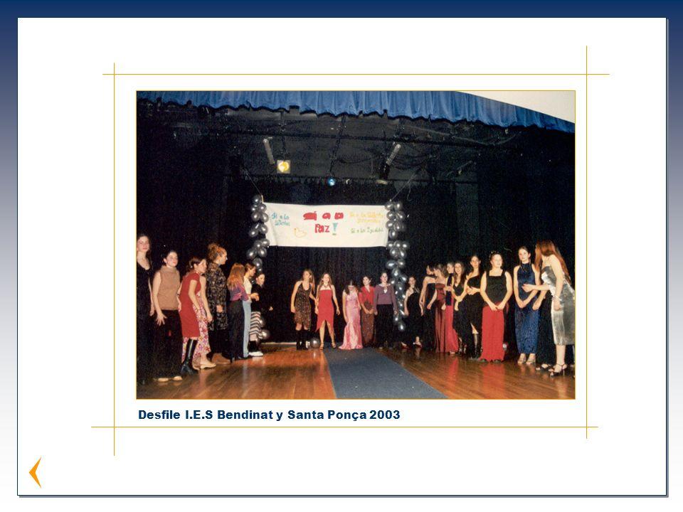 Desfile I.E.S Bendinat y Santa Ponça 2003