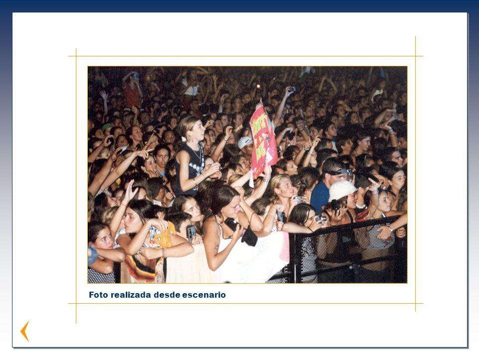 Foto realizada desde escenario