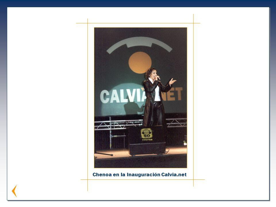 Chenoa en la Inauguración Calvia.net