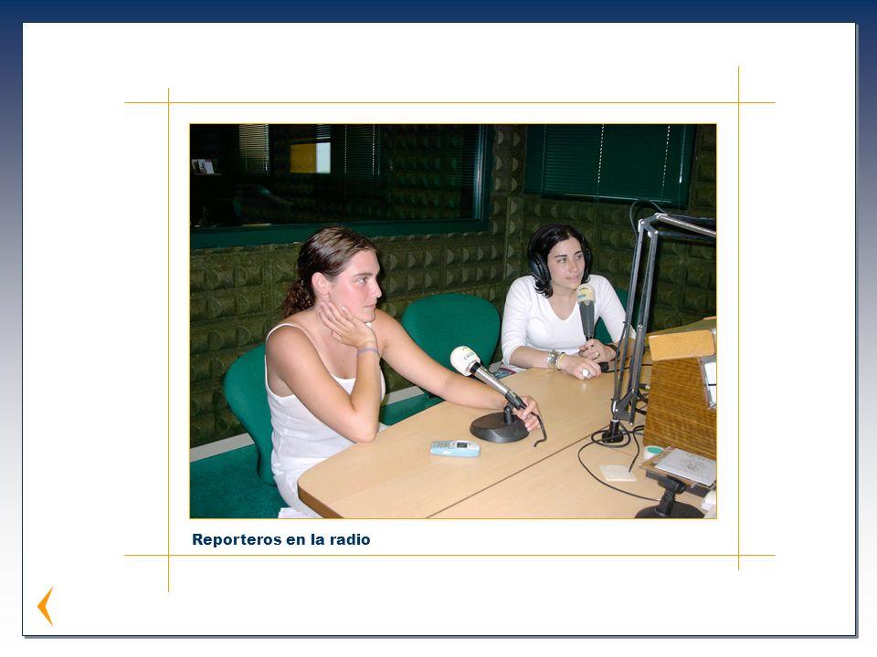 Reporteros en la radio