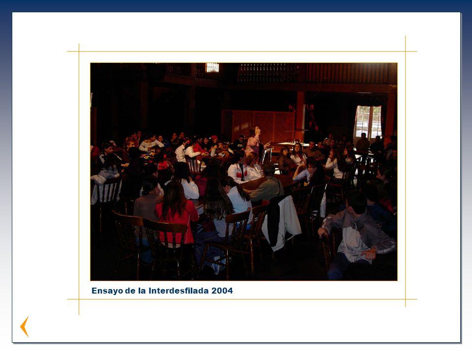Ensayo de la Interdesfilada 2004